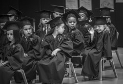 The Pre K Graduates 2018 (Airborne Guy) Tags: prek kindergarden graduation graduates kids children diploma bw bnw blackandwhite monochrome school class people 2018 students capandgown airborne guy