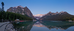 Alpenglow sunrise at Lake Louise 2018 (Gord McKenna) Tags: gordmckenna gord mckenna lake louise sunrise alpenglow reflection glacier geology rocky mountains rockies alberta ab canada banff