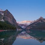 Alpenglow sunrise at Lake Louise 2018 thumbnail