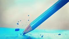 Breaking bad (aadilbricha) Tags: breaking pencil blue handtool hmm macromonday macromondays macro tamron90mm smileonsaturday madeofwood