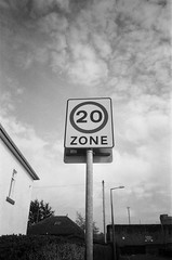 20 to the sky (bigalid) Tags: film 35mm olympus may 2018 tripaf51 kentmere 400iso bw dumfries sign