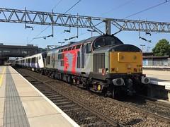 37800 and 345035 Stafford 11/06/2018 (Brad Joyce 37) Tags: bluesky sunshine station staffordshire stafford drag train ecs diesel engine locomotive class345 class37 5q73 345035 37800