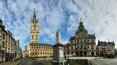Sint-Baafsplein, Gante (B) (Panoramyx) Tags: gand sintbaafsplein gent ghent gante flandes vlaamderen flandre bélgica belgië panorama panoramica hdr belgique belgio belgium