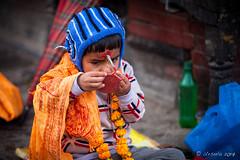 Applying Tika Powder 3031 (Ursula in Aus (Resting - Away)) Tags: asia kathmandu nepal pashupatinath ggphotoworkshop