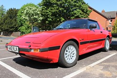 Mazda RX7 (R.K.C. Photography) Tags: mazda rx7 japanese sportscar classic 1984 a42kln roystonhistoricvehicleshow royston hertfordshire england unitedkingdom uk canoneos100d