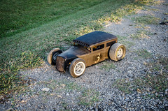 #3 RC Scratchbuilt Bagged Ratrod First Drive-2 (Strangely Different) Tags: rceveryday rcengineering tinytrucks rcratrod kustom patina scratchbuilt ratrod chopped hobby rccar rc4wd scratchbuild customrc scaler scalerc axial tamiya traxxas