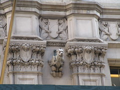 Street Level Gargoyle Old NY Times Building NYC 3968 (Brechtbug) Tags: gargoyle former new york times building square 2018 city tower architecture midtown manhattan 06182018 newspaper gothic news paper towers urban now yahoo headquarters internet business search engine computer company june spring summer art buildings old street level ny nyc