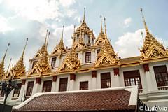 Loha Prasart in Bangkok (Lцdо\/іс [Offline, on holiday]) Tags: loha prasart lohaprasartโลหะปราสาท วัดราชนัดดารามวรวิหาร bangkok thailande thailand thalandia temple sky hindou asia asian lцdоіс travel 2017 boudhisme buddhisme bouddha religion