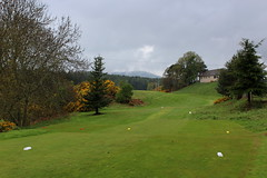 A Hole on Alness Golf Course (Walruscharmer) Tags: fairway golfcourse clubhouse trees gorsebushes alness gofclub rossandcromarty scotland