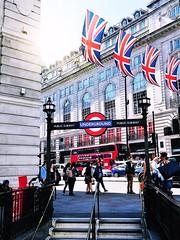 Piccadilly Circus Underground (The Phoenix Girl) Tags: flags unionjackflags underground london uk unitedkingdom england europe composition piccadillycircus greatbritain nikon timeoutlondon city urban street streetphotography londoner londonist soho ukflag photography