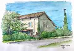 Chapias Farm House (Chris Kex) Tags: urban sketching skizzenbuch skizzieren plein air zeichnen freihandzeichnung chapias france frankreich ardeche beaume labeaume