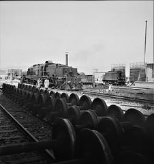 "Iran Railways - Iranian State Railways ""Beyer Garratt"" type 4-8-2+2-8-4 steam locomotive (Beyer Peacock Locomotive Works, Manchester-Gorton 6787-90 / 1936) (HISTORICAL RAILWAY IMAGES) Tags: bp beyerpeacock garratt steam locomotive iran persia wwii train loc 1943 manchester gorton 482284"