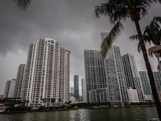 Condominium Towers along Miami River - Miami FL
