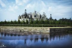 Chambord Castle (pbmultimedia5) Tags: château castle chambord loiretcher france building architecture lake water blue sky pbmultimedia