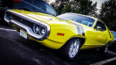 Muscle #8: 71 Road Runner (The Cartoon Car) (Rabican7) Tags: roadrunner plymouth 1971plymouthroadrunner americanmuscle car automotive musclecar yellow color downtown manchester carshow streetphotography cartooncar shiny funtodrive fun sportscar vehicle beepbeep wileecoyote