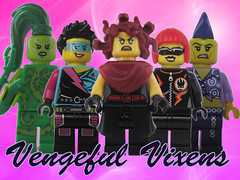 "Vengeful Vixens - ""Gangs for Hire"" (Quickblade22) Tags: supervillains superpowers comics comicbook custom brickforge brickwarriors arealight"