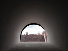 kukucs (LG_92) Tags: roof skylight cityhall budapest buda castledistrict budaivár symmetric peep hole 2018 xiaomi mobilepics hungary light round window chimney sky