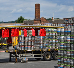 You dropped one! (robmcrorie) Tags: beer barrel lager burton trent coors brewery lorry dropped museum