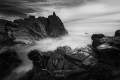 Light is easy to love. Show me your darkness. (RuiFAFerreira) Tags: beauty bw black wide white waterscape blackwhite canon dark efs1018mmf4556isstm exterior exposure light landscape long longexposure le mood nature portugal rocks shadow seascapes uwa