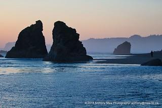 Sunset Sea Stacks