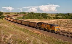 UP 2700 - Belmar Curve (Wheelnrail) Tags: up union pacific 2700 tier 4 et44ac locomotive railroad rail road rails train trains coal ne nebraska ge south morrill subdivision lake mcconaughy belmar