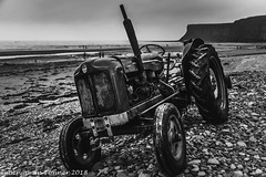 On the beach (frattonparker) Tags: btonner lightroom6 nikond810 tamron28300mm win10 frattonparker saltburn tractor wreck northsea