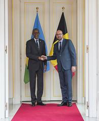 Prime Minister Charles Michel of Belgium hosts President Kagame to dinner at his residence | Brussels, 4 June 2018 (Paul Kagame) Tags: kagame charles michel rwanda belgium eu europe africa au