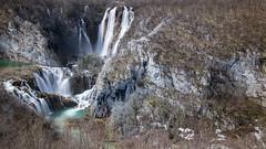 Multitude of waterfalls in Plitvice