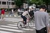 bicycle woman (kasa51) Tags: people street woman bicycle yokohama japan zebra intersection 自転車 横断歩道