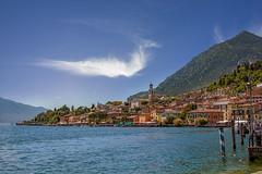 Limone sul Garda Harbour (Giovanni Giannandrea) Tags: limonesulgarda harbour lombardy italy cirrus lombardia italia lakegarda lagodigarda aqua azzure