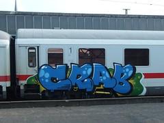 CRAB (mkorsakov) Tags: dortmund hbf bahnhof mainstation zug train ic intercity graffiti piece bunt colored crab