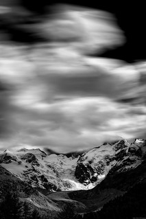 Windy clouds over the Bernina pass [Explore 2018.06.09]