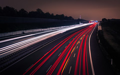 Arteries of modern Civilisation (redfurwolf) Tags: urban highway night nightphotography longexposure cars sky road redfurwolf sonyalpha a7riii sony sal2470f28za munich a9 garching