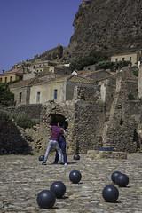 Views of Monemvasia (Kostis Tatakis) Tags: monemvasia castle byzantine stone stonewall mani peloponnese peloponnesus travel people couple canonballs dancing summer sunny greece nikond7200