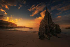 Eternal rock (ALFONSO1979 ) Tags: landscape red sunset sunrise flickr photo moon new seascape clouds blue lights tree nature winter sky water really fantastic rocks explore world exposure summer yellow garden river art