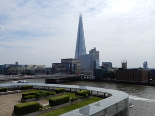 The Shard, Southwark Cathedral etc. viewed from the Nomura Roof Garden