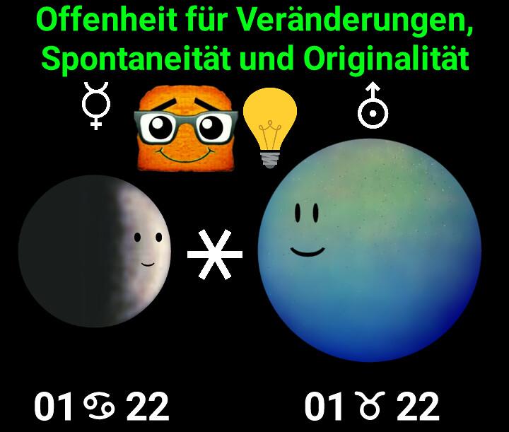 Merkur Sextil Uranus