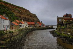 Staithes (Kev Walker ¦ 8 Million Views..Thank You) Tags: architecture boats britishculture building canon1855mm canon700d cliffs coastline digitalart fishingport hdr harbour historic northyorkshire outdoor panorama panoramic picturesque postprocessing sea seaside seasidevillage sky staithes tranquil unspoilt water waterfront waterside