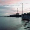 Pier 149 (dmitry sovyak) Tags: 120mm analog autocord film grainisgood kodak mediumformat portra portra400 tlr пленка arkhangelsk архангельск pier sunset river ndfilter nd4 graffiti