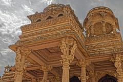 Shree Sanatan Hindu Mandir (Geoff Henson) Tags: temple mandir hindu london building sky clouds sandstone carvings flags pigeons steps architecture