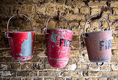 Fire buckets (www.chriskench.photography) Tags: england felixstowe uk 18135 britain greatbritain unitedkingdom suffolk gb suffolkcoastaldistrict antique vintage fire buckets fort defences