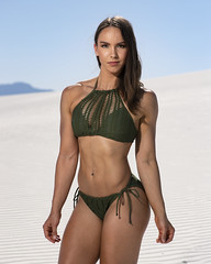Victoria at White Sands (Mitch Tillison Photography) Tags: beautiful stunning gorgeous fit fitness fashion bikini model muscular woman female whitesands national monument park abs power pose nikon d5 neewer vision 5 hss highspeedsynch strobe tokina 100 atx mitchtillison photo shoot photography newmexico healthy alluring powerful strong
