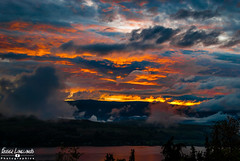 Sunday fury of color (Fraser8888) Tags: sky sunset night sundown color colour fury mountain storm after nikon 35mm lake calm clouds