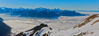 La mer de Brouillard au Valais , the sea of clouds view from the Rochers de Naye . Izakigur  29.01.18, 14:55:22 .