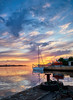 Another summer evening, Norway (Vest der ute) Tags: xt20 sea seascape sky clouds sailboat quay ropes boat ship reflections fav25 fav200