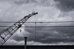 Heavy Crane and Wires--Storm (PAJ880) Tags: boston ma ship repair crane clouds tackle industrial urban