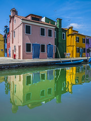 Burano reflections (Blende1.8) Tags: sommer summer burano venice venezia venedig colors colours coloursofburano vivid colorful colourful farbig farben bunt buntehäuser haus häuser building buildings house houses water reflection reflections spiegelungen spiegelung canal kanal bluesky blauerhimmel italy italia italien travel reise nikon d600 2485mm carstenheyer