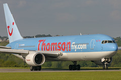 Thomson Airways - Boeing 767-304ER G-OBYG @ Cardiff (Shaun Grist) Tags: gobyg tom thomsonairways boeing 767 shaungrist cwl egff cardiff cardiffairport cardiffrhoose rhoose wales airport aircraft aviation aeroplanes airline avgeek