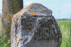 Deursen op grenspaal (ragingr2) Tags: grenspaal deursen dieden gemeenteoss oss noordbrabant paal graniet grens gemeentelijkmonument monument lichen korstmoss ammonia ammoniak