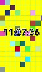 Higher Quality Text (sjrankin) Tags: 12june2018 edited clock app program output test iphone phone cellphone blocks colorful illustration